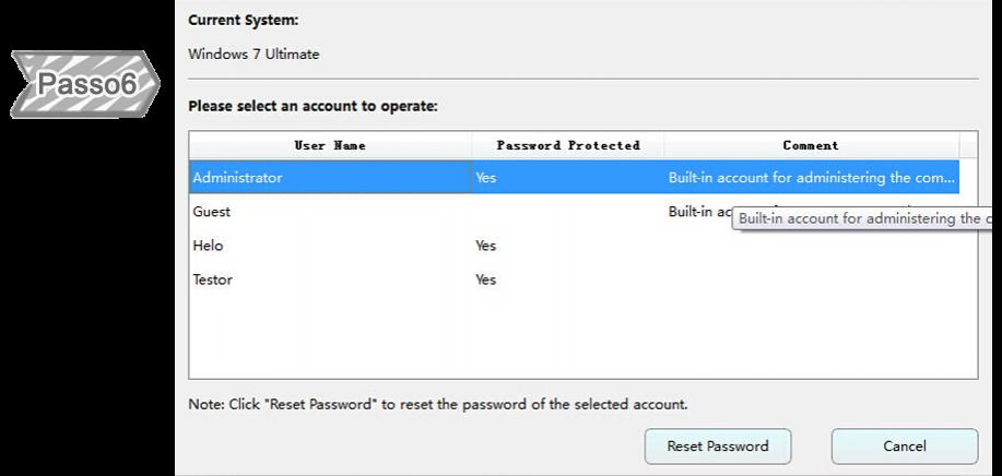 Scegliere Account