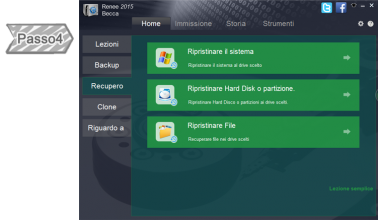 Piani di Recuperare file di backup
