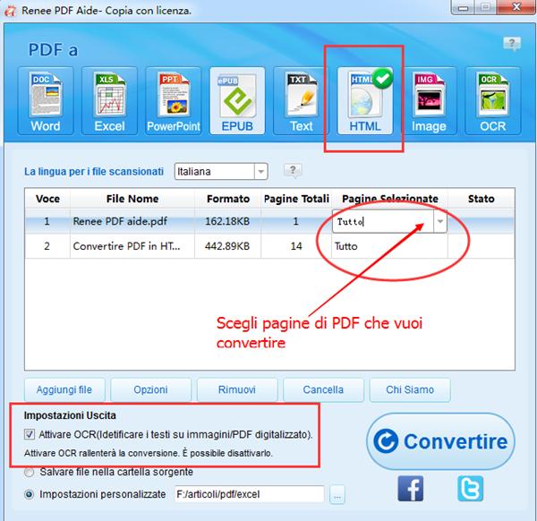 3 scegli formato esportato HTML e pagine_600
