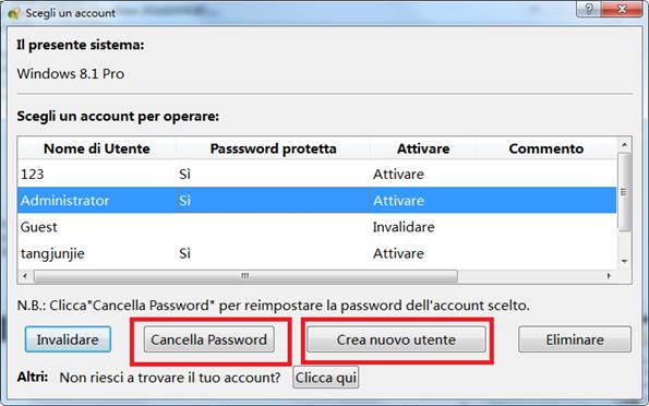 8.1 pro cancella password o crea nuovo utente_595