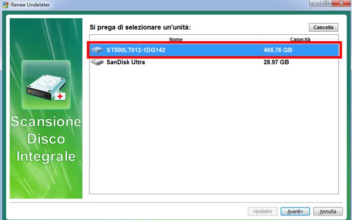 2 scegliere disco per eseguire la scansione_700