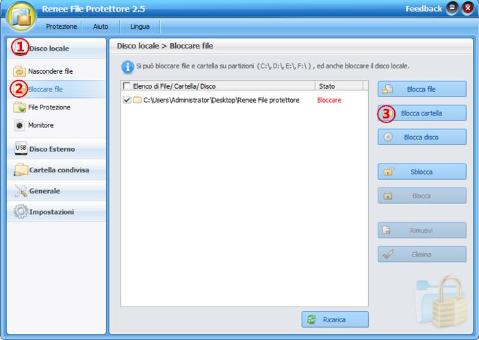 bloccare cartella con renee file protettore_700
