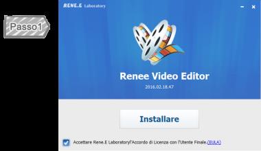 1. L'installazione di Renee Video editore
