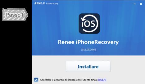 1. L'installazione di Renee iPhone Recovery