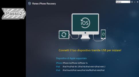 2. Connetti il dispositivo con il computer e avvia iTunes