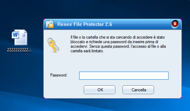 proteggere file con password 3