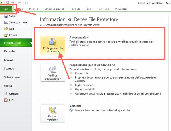 proteggere file excel con microsoft office 1