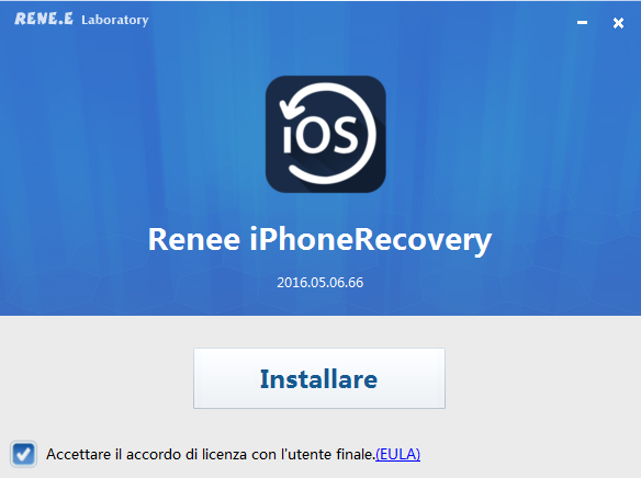 1installazione di renee iphone recovery