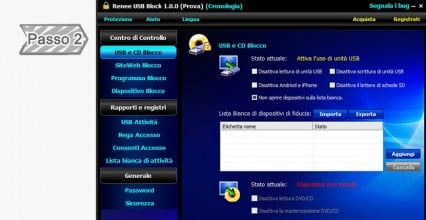 2. USB e CD Blocco