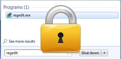 bloccare editor del registro