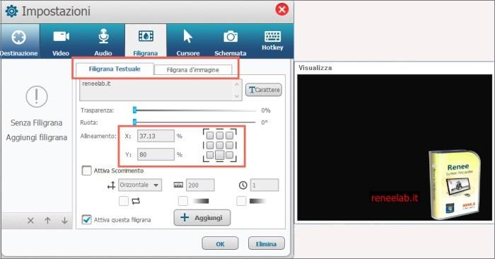 impostazioni avanzate di programma per registrare schermo 3