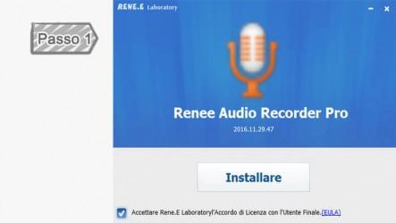 1. Installazione di Renee Audio Recorder Pro
